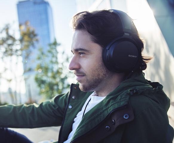 Man with Sony Headphones On